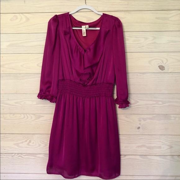 Emma & Michelle Dresses & Skirts - Emma and Michele Satin Hot Pink Dress Size 10 D
